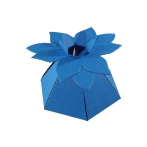Ocean Blue Flower Top Designer Favour Boxes